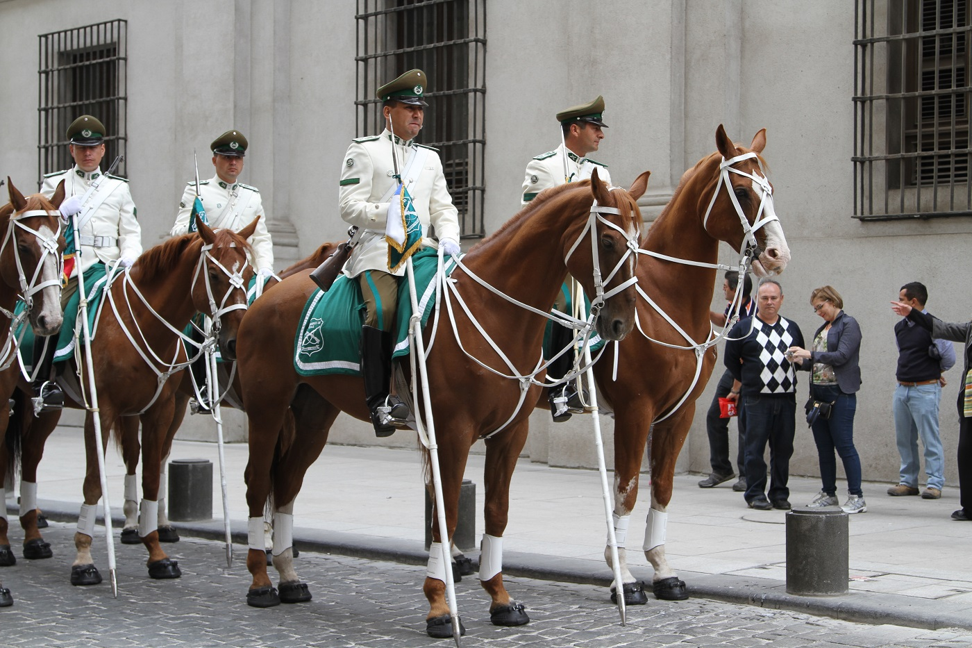 CHILE - CHANGING OF THE GUARD by Maurice P Wells .jpg