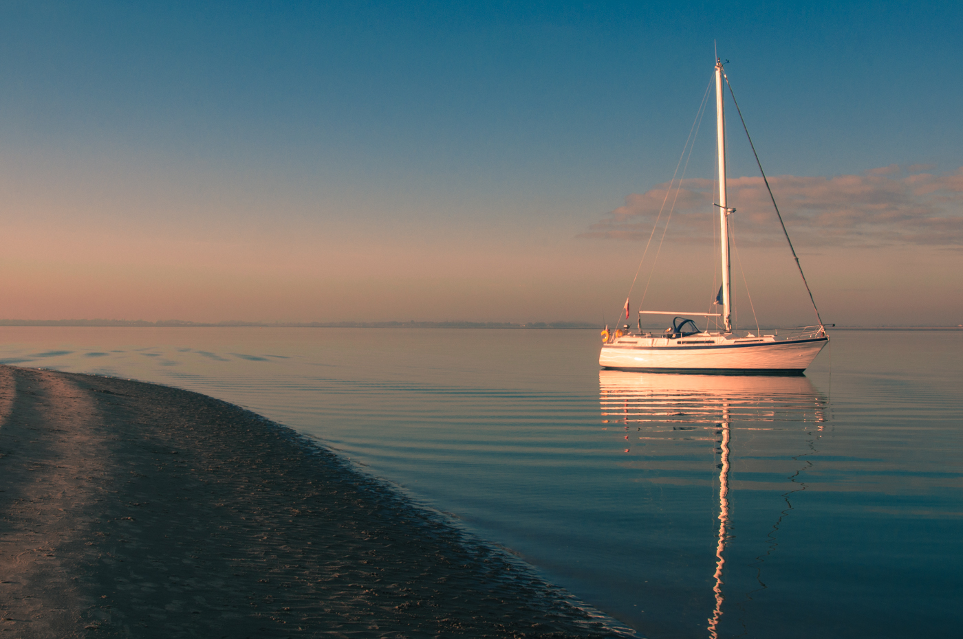 YACHT AT WEST WITTERING by Rob Lowe.jpg
