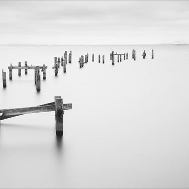 MINIMALIST OLD PIER SWANAGE by Andy Smit