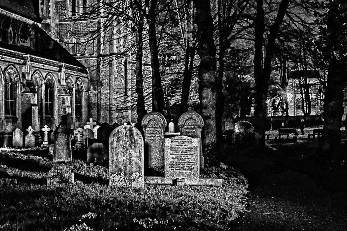 CHURCHYARD AT NIGHT by Gary Scorgie.jpg