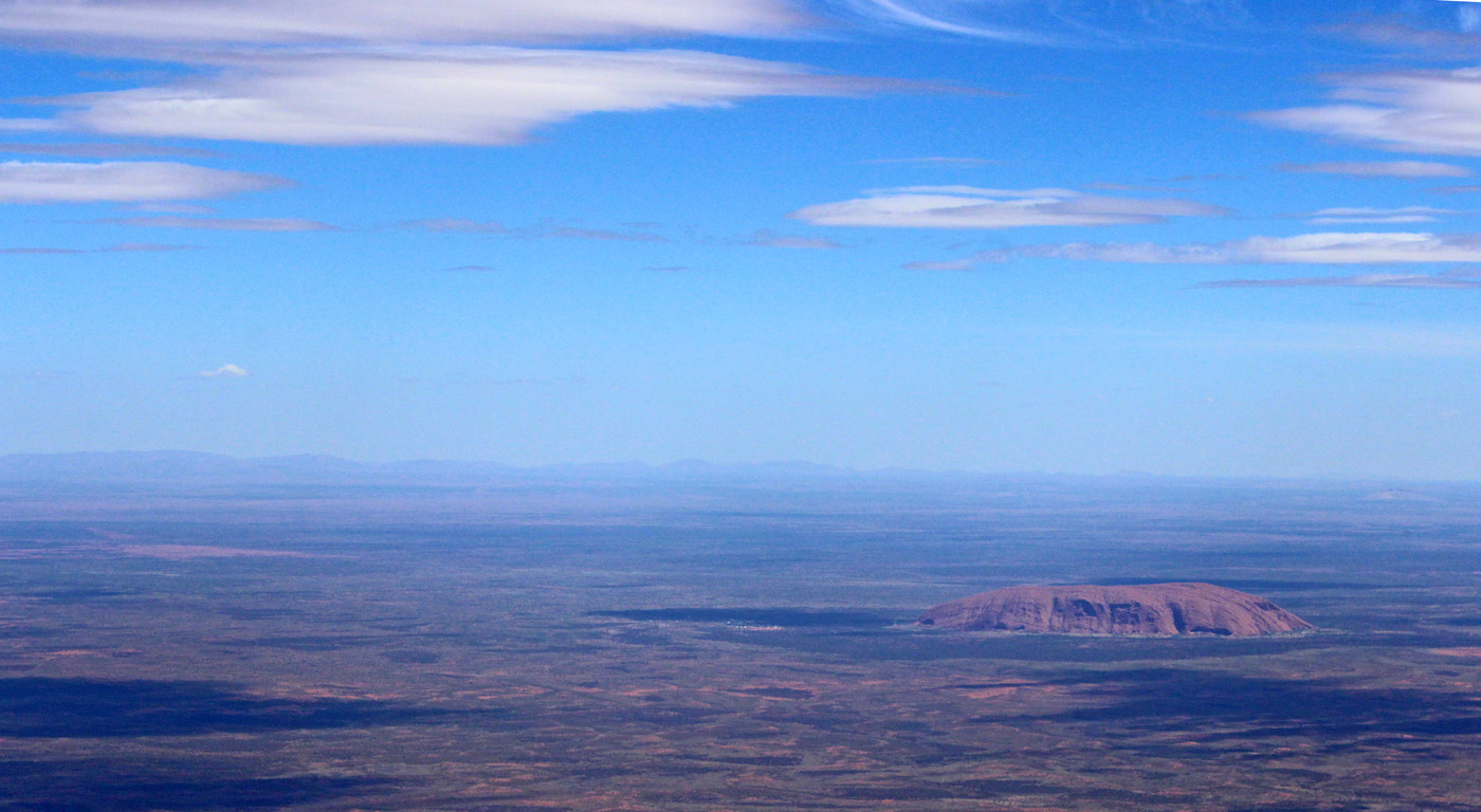 ULURU FROM THE AIR by Sue Avey
