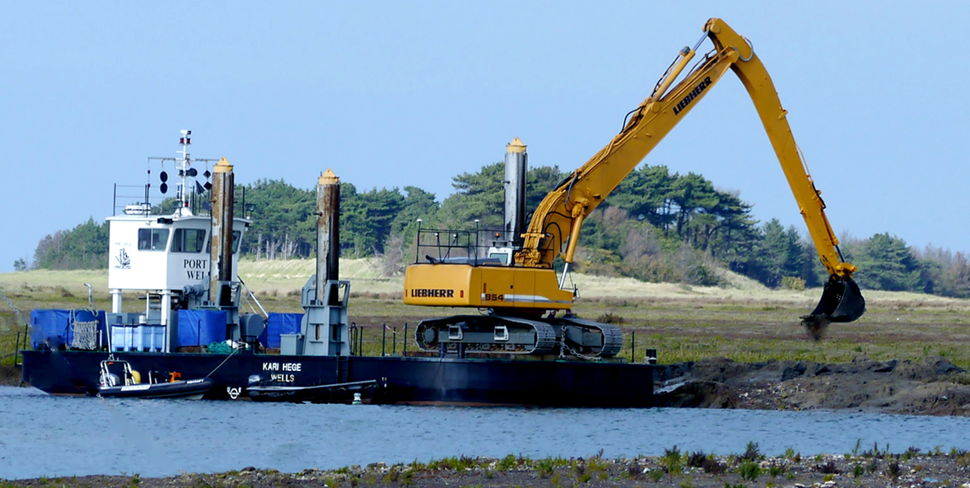 DREDGER AT WORK  by Dave Taylor