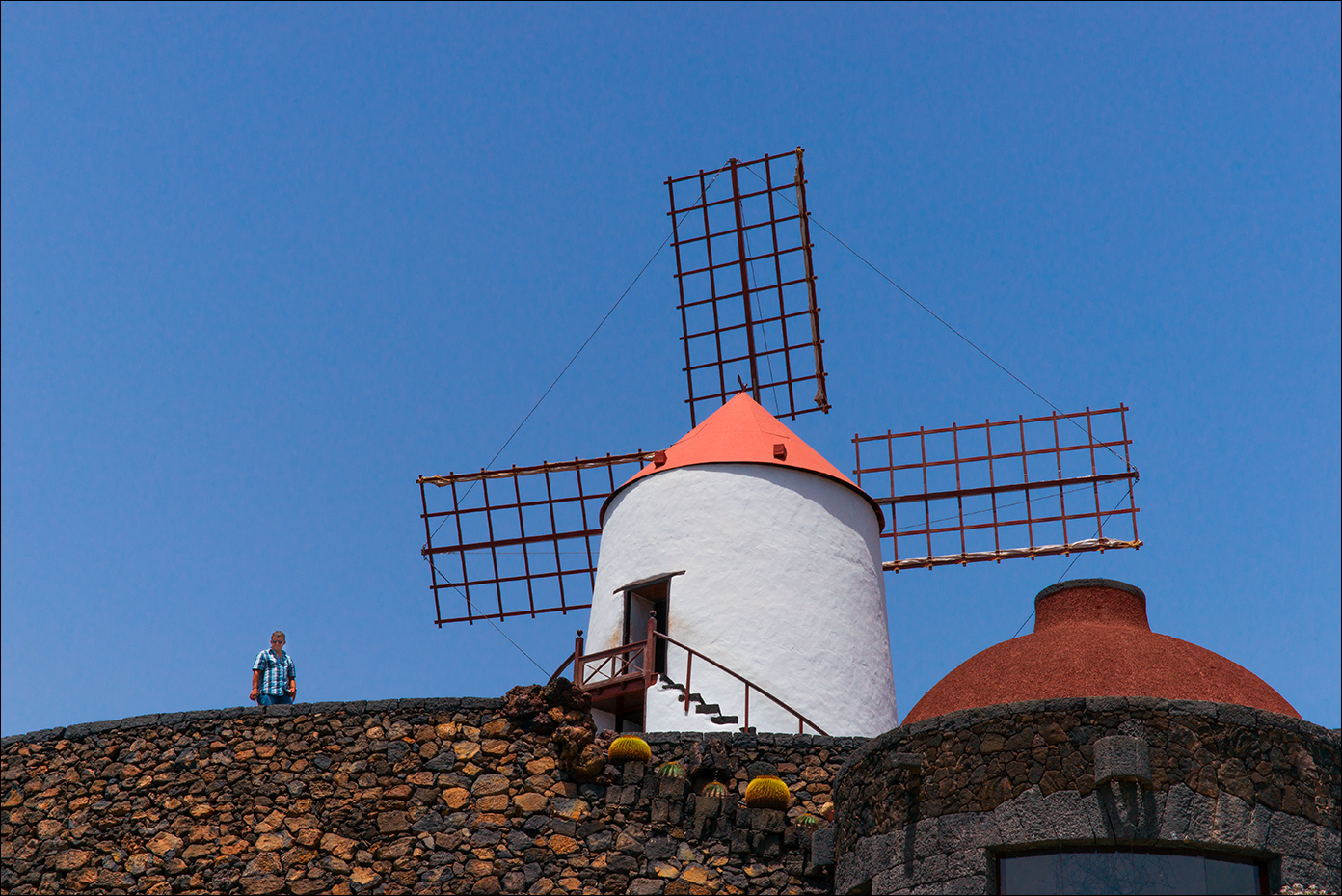 WINDMILL IN LANZAROTE by Andy Smith