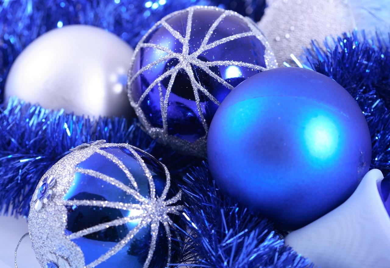Картинки с новым годом в синем цвете