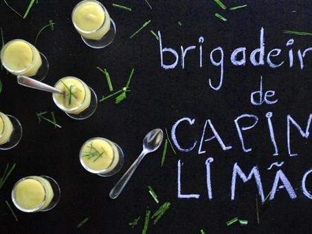 Brigadeiro de colher com gostinho de capim-limão