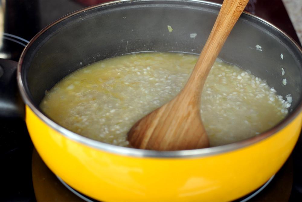 receita risoto como preparar caldo cumbquinhas