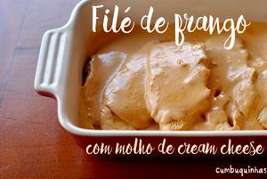 file de frango molho cream cheese