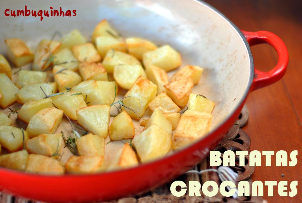 receita batatas assadas crocantes