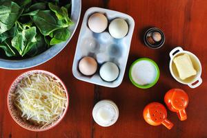ingredientes sufle espinafre