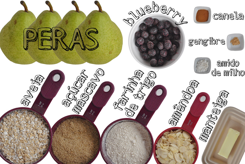 ingredientes para preparar crumble