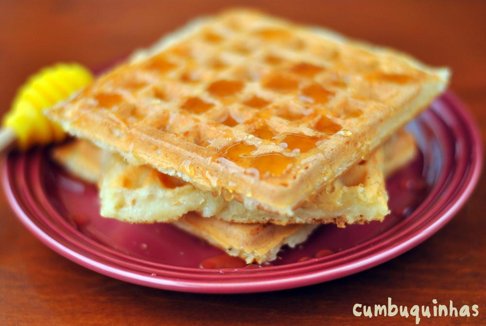 como fazer waffle pao de queijo