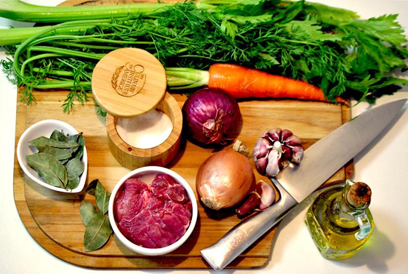ingredientes caldo de carne