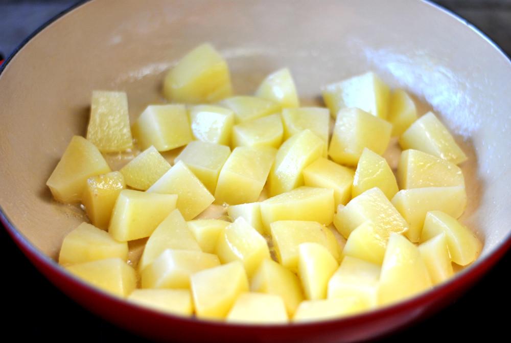 batatas passadas na manteiga
