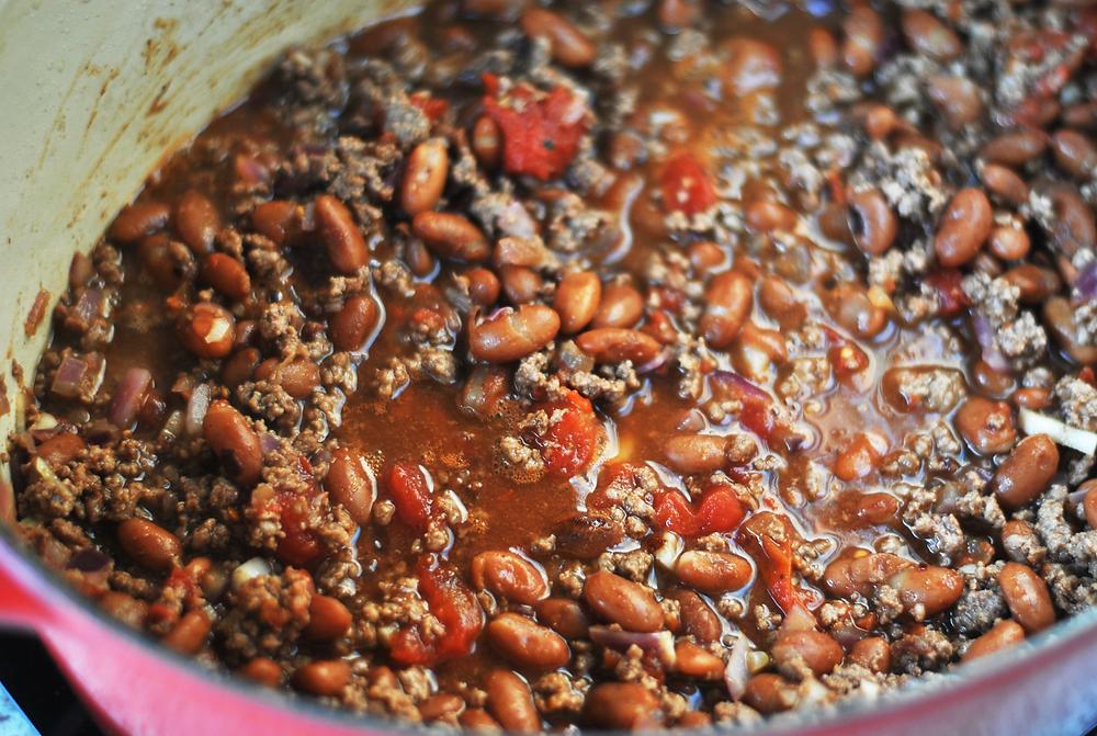como preparar chilli com carne