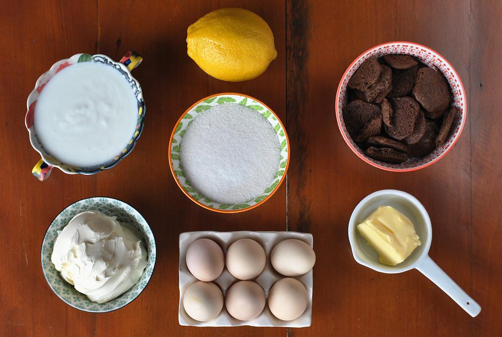 ingredientes cheescake de cookie
