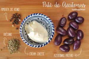 ingredientes pate de azeitonas pretas cumbuquinhas