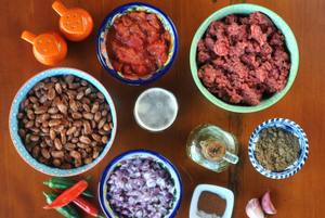 ingredientes chilli com carne