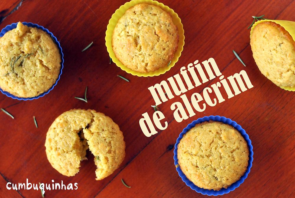 muffin alecrim farinha de milho cumbuquinhas