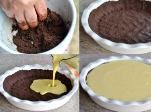 como preparar cheescake massa cookie