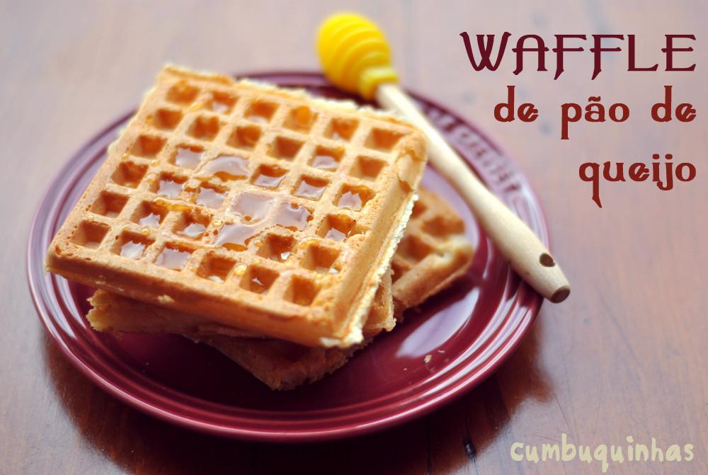 waffle pao de queijo receita cumbuquinhas