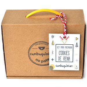 kit para preparar cookie de rena cumbuquinhas