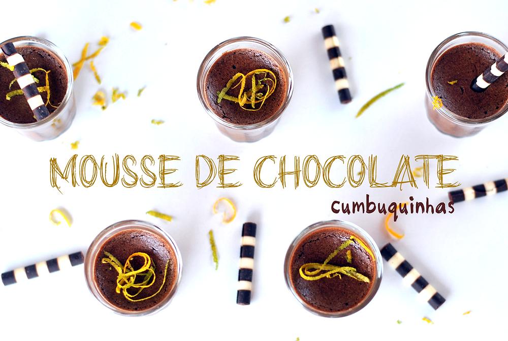 mousse de chocolate cumbuquinhas