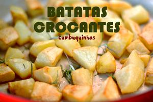 batatas assadas crocantes cumbuquinhas
