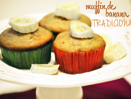Muffin de banana tradicional - sucesso garantido!