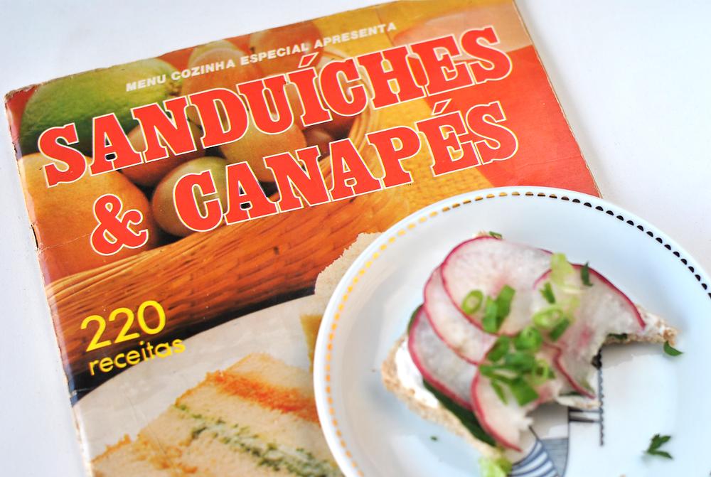 sanduiches e canapes livro 1985