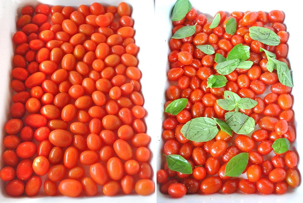 tomate sweet grape manjericao azeite