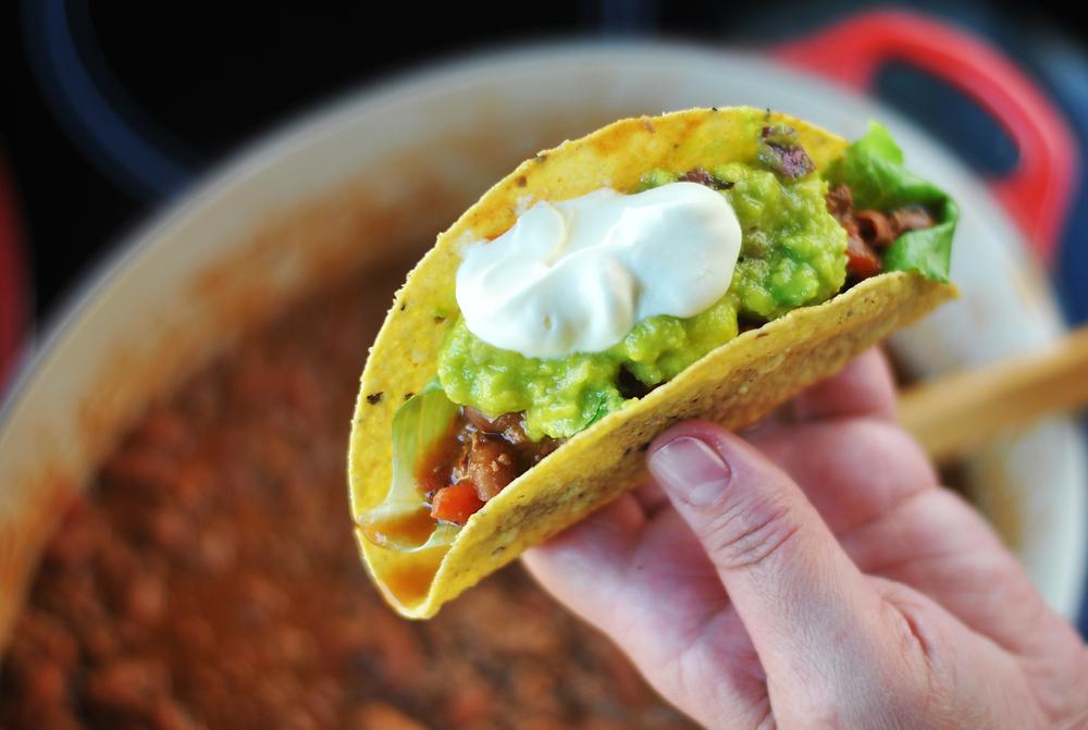 como preparar taco comida mexicana
