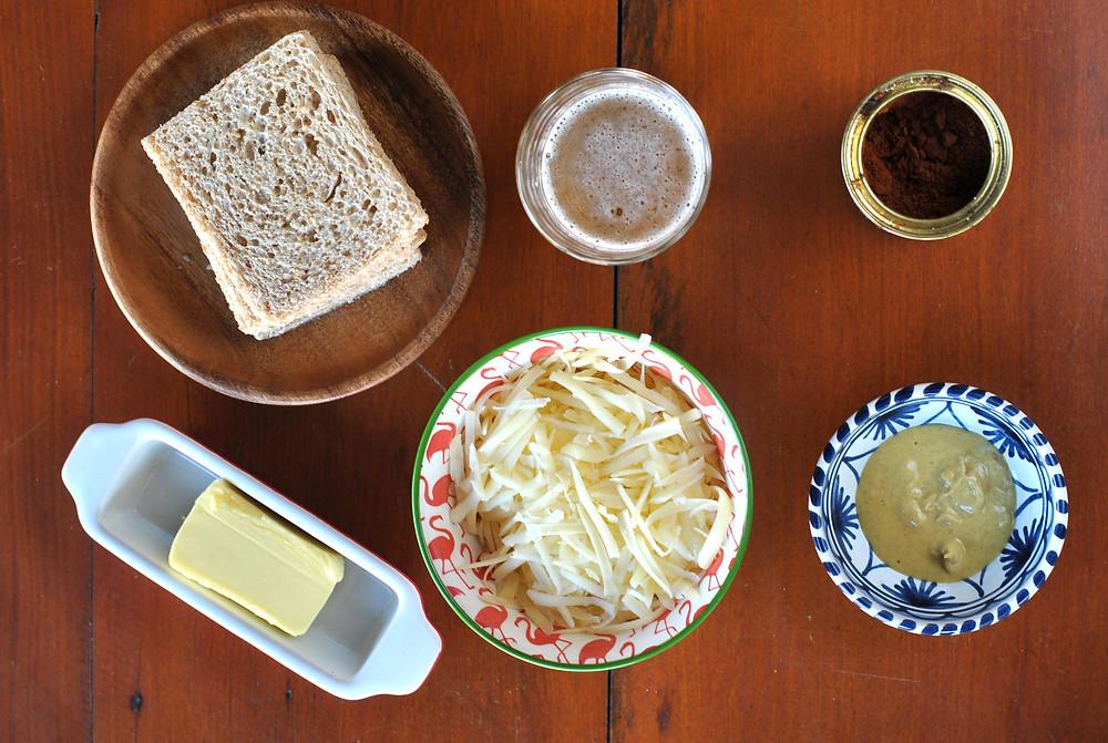 ingredientes torradas com cerveja