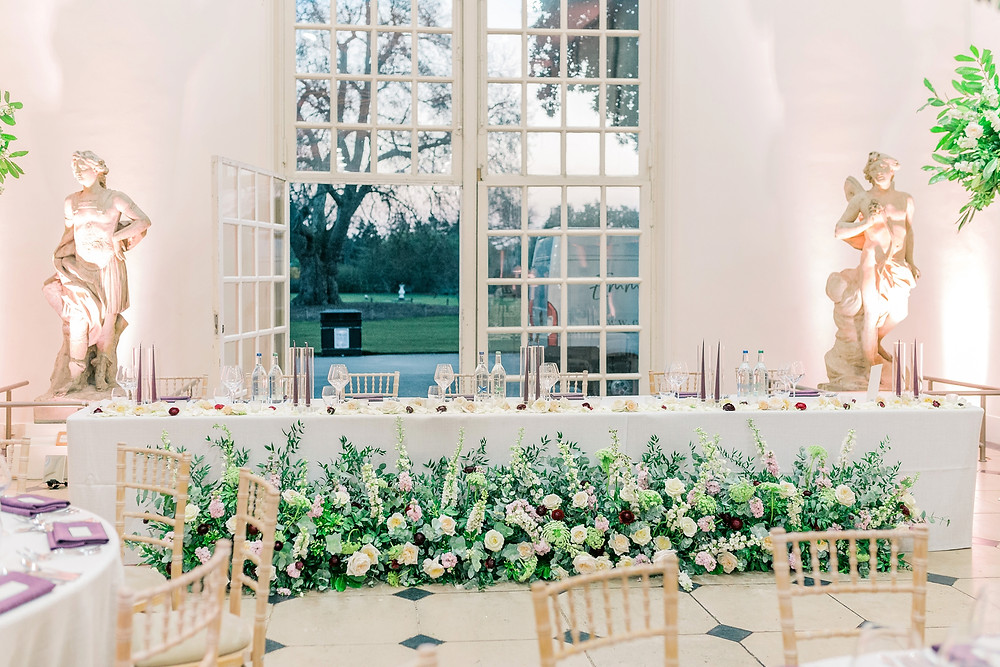 Indoor meadow created at Kew Orangery