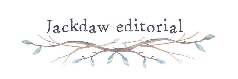 Logo design for Jackdaw Editorial