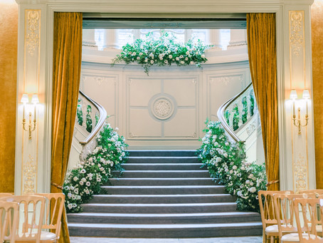White Winter Luxury Installations At The Savile Club