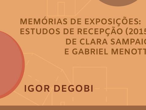 Memórias de exposições: Estudos de recepção (2015), de Clara Sampaio e Gabriel Menotti