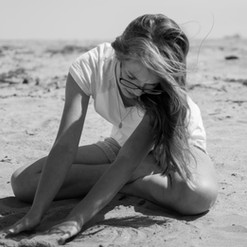 A Girl on the Beach at Lake Erie Maumee