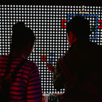 Interactive Lighting at Corporate Employee Event