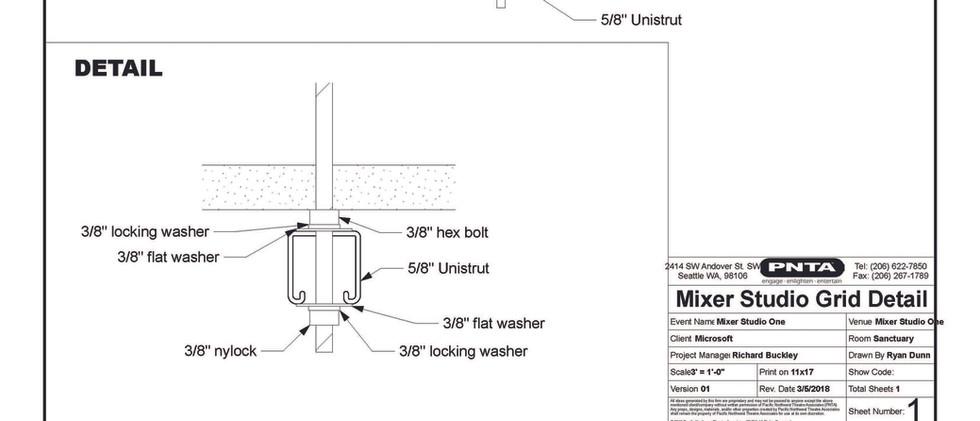 Mixer StudioOne (Ceiling Detail)