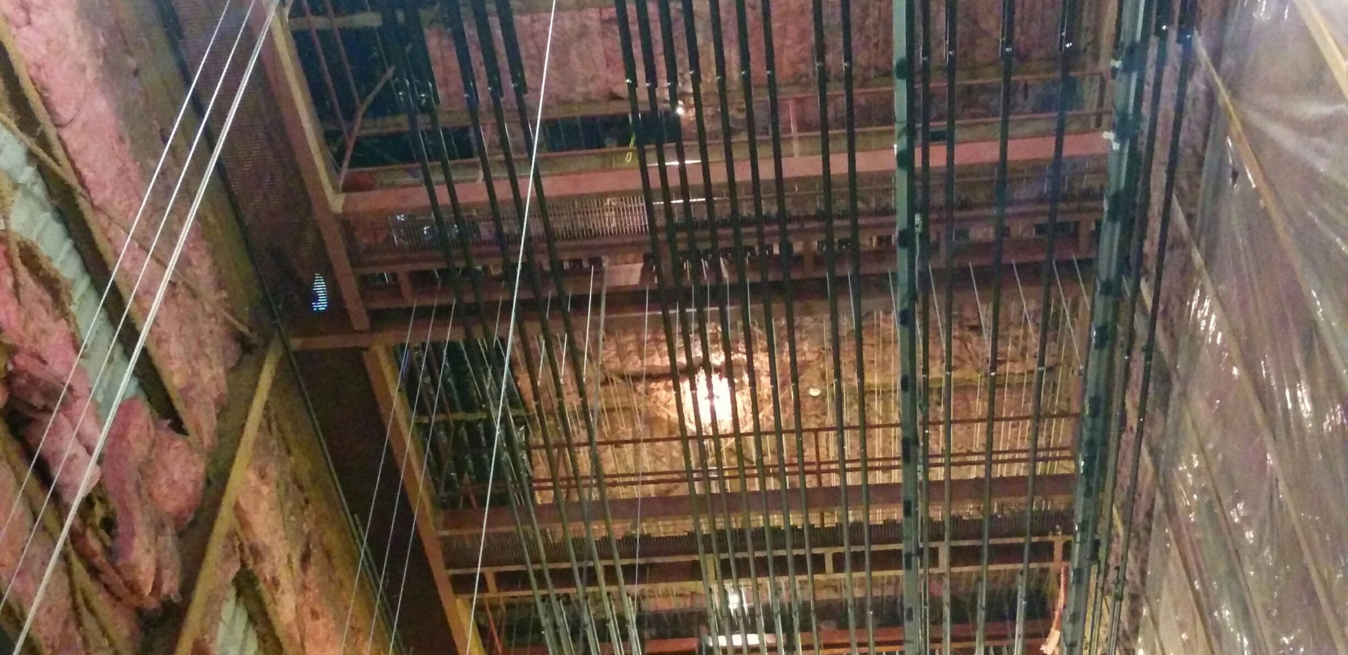 Ceiling View of Bremerton Community Theater Rigging Installation