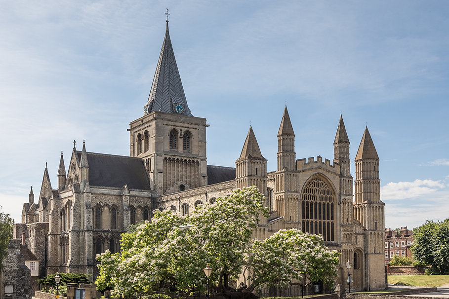 Rochester Cathedral - west front and cat