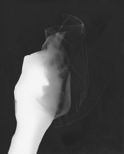 Photogram - Plastic Bag and Hand