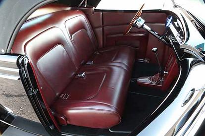 Jon Wright 1936 Ford custom roadster interior