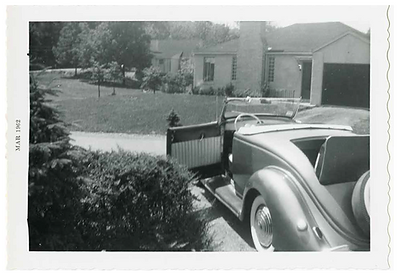 1936 Ford custom roadster historic image
