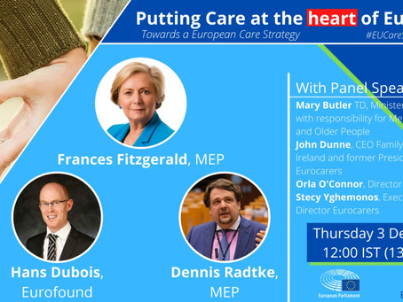 Webinar: Putting Care at the heart of Europe - Registration