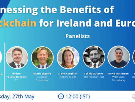Webinar Registration: Harnessing the Benefits of Blockchain for Ireland and Europe