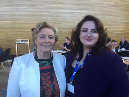 Frances meets Commisioner-Designate for Equality, Helena Dalli (Malta)