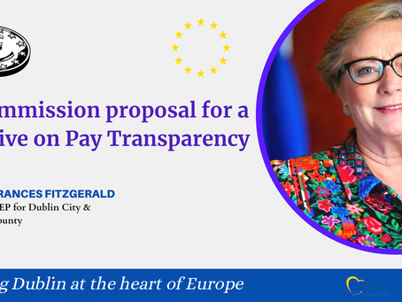Launch of EU pay transparency Directive a pivotal moment in closing the gender pay gap–Fitzgerald
