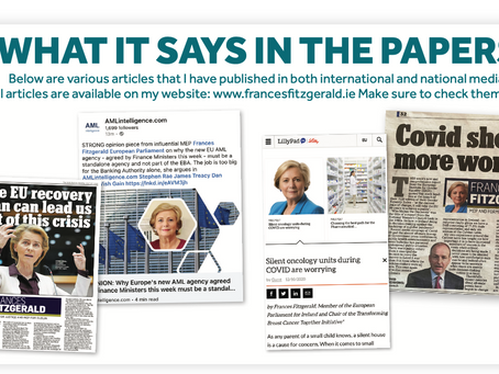 What it says in the papers with Frances Fitzgerald-Winter 2020/2021