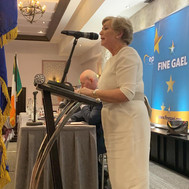 Frances during the Fine Gael European Election Selection Convention 2019